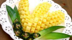 Art In Pineapple Garnish | Fruit Carving | Pineapple Food Art | Party Ga...