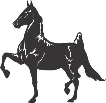 Силуэт лошади AH