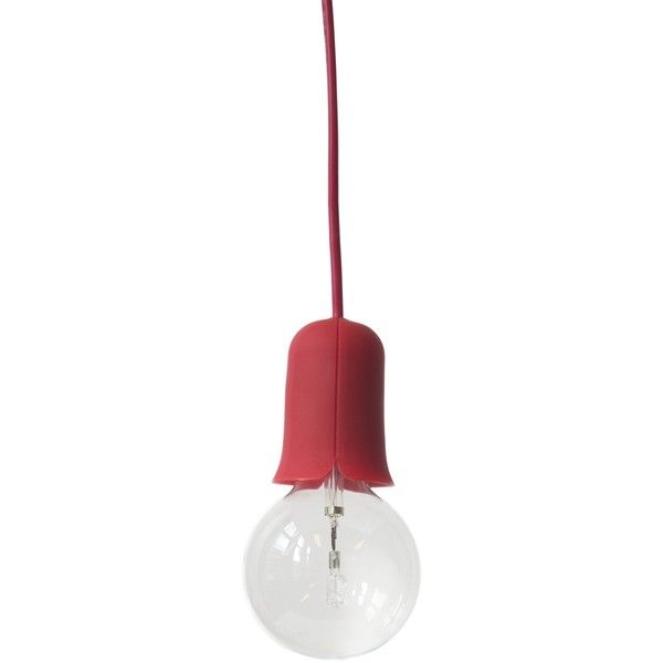 Puik Art Tulight Tulip Pendant Light - Red ($59) ❤ liked on Polyvore featuring home, lighting, ceiling lights, black, black lamp, red hanging lights, red lights, red pendant lighting and black pendant lighting