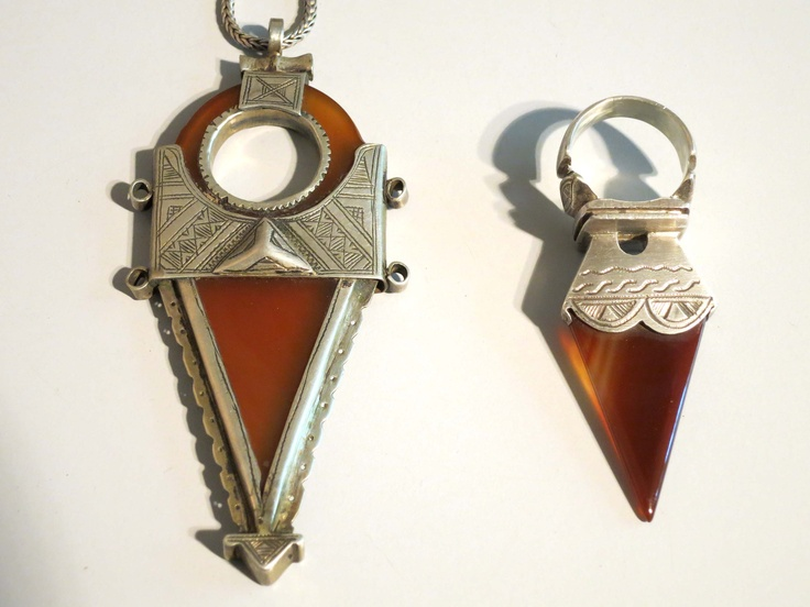 544 best ethnic tuareg images on pinterest tribal jewelry ethnic for sale african tuareg carnelian silver tisek amulet ring and pendant necklace mozeypictures Image collections