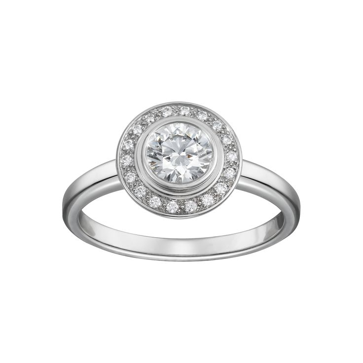 Cartier d'Amour solitaire - Platinum, diamonds - Fine Engagement Rings for women - Cartier