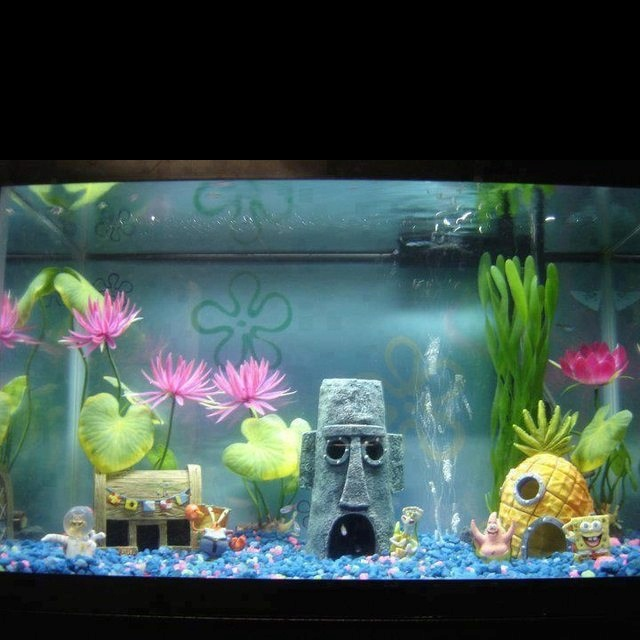 Is it so bad to want a spongebob fish tank home for Spongebob fish tank