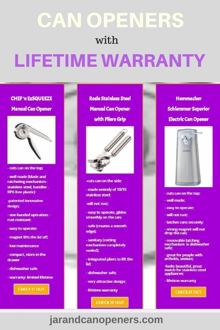 Can Openers With Lifetime Warranty With Images Can Openers
