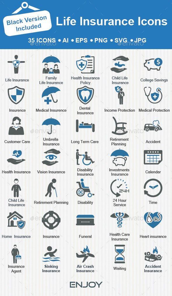 Life Insurance Icons Life Insurance Marketing