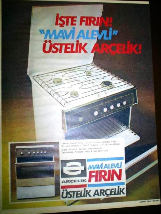 1982 Arçelik Fırın üstelik Mavi Alevli