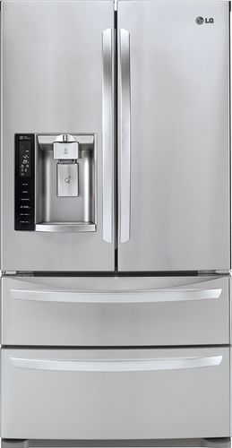 26 8 Cu Ft 4 Door French Door Refrigerator With Thru The