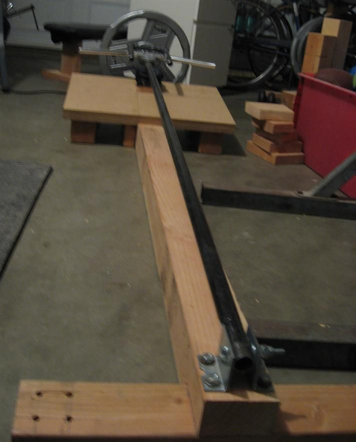 T bar row homemade workout equipment pinterest