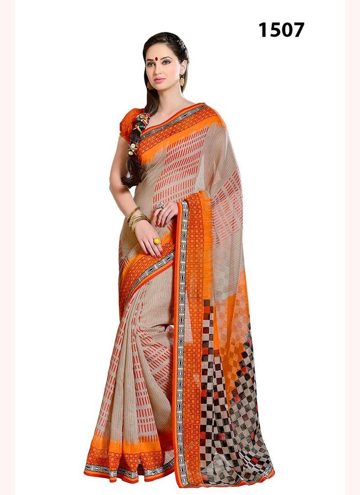 VandV Orange Lilan Cotton Saree Online #saree #Cottonsaree #indian #bridalSaree #fashion #StylishSaree #weddingstyle #gorgeous #beautifulsaree  #ExclusiveSaree