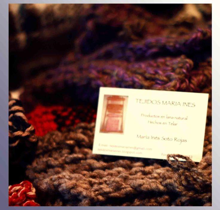 La Sra. María Inés se hiso notar con sus hermosos tejidos. De excelente calidad y con lindos diseños prefectos para el invierno. Además llevó ponchos y cobijas.
