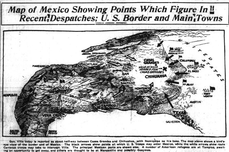 "WWI covered live on Twitter: ""Mar 24 1916 Map of Mexico showing Pershing's American invasion https://t.co/4GTkjhxYLi @GenJackPershing https://t.co/afRtt2nBbH"""