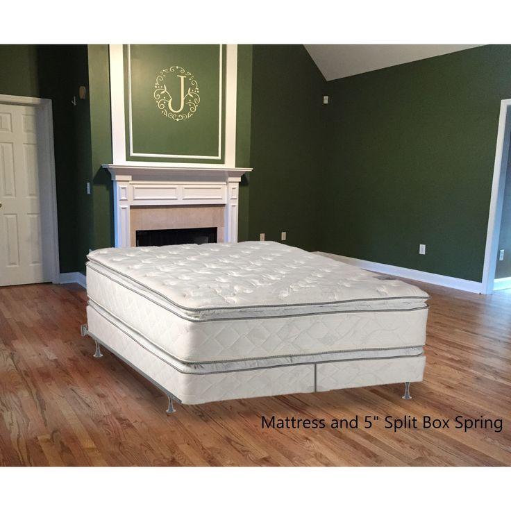 Continental Sleep, Medium Plush Pillowtop Orthopedic type Doublesided Mattress and 5-inch Split Box Spring (beige/