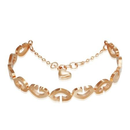 Cubic rose gold steel bracelet. Only at Aquamarine Jewelry www.aqj.ca