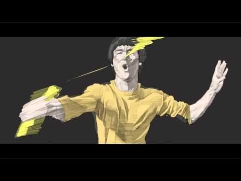 Bruce Lee Rotoscope Animation https://www.youtube.com/watch?v=26v_zbCVhTY Seung Eun Kim