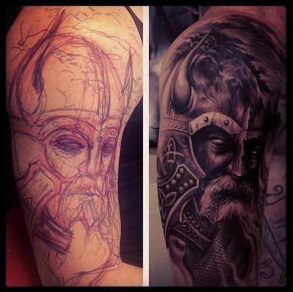 8 best tattoos i want images on pinterest viking tattoos for Norse tattoo sleeve