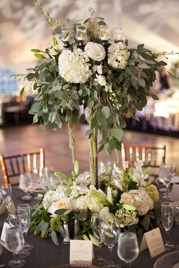 Tall Eucalyptus Centerpiece Weddings Pinterest