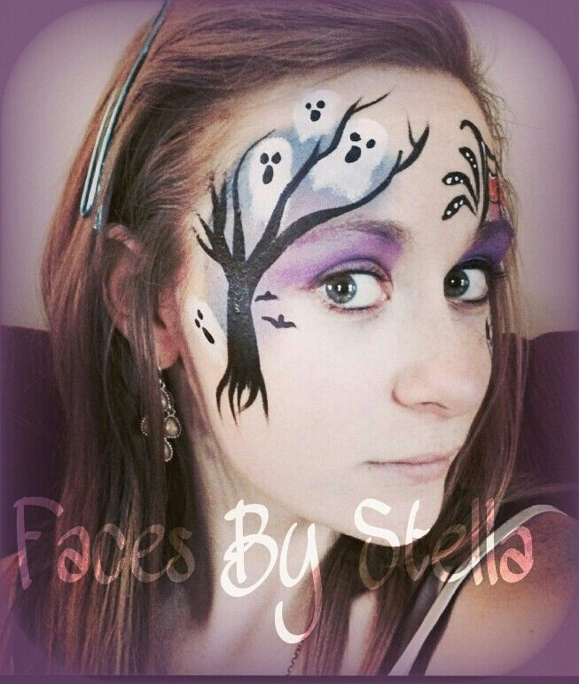 halloween ghost face painting designs