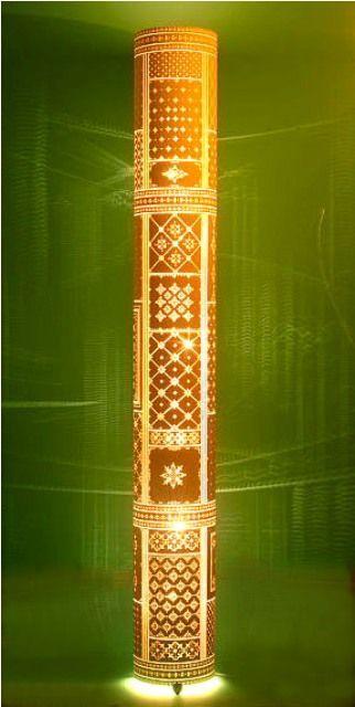 luminária feita com tubo de PVC - linda!
