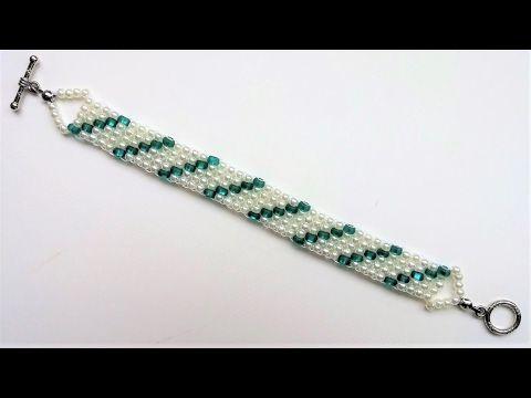 Go Green Bracelet 2. Beading Jewelry Pattern for Beginners - YouTube