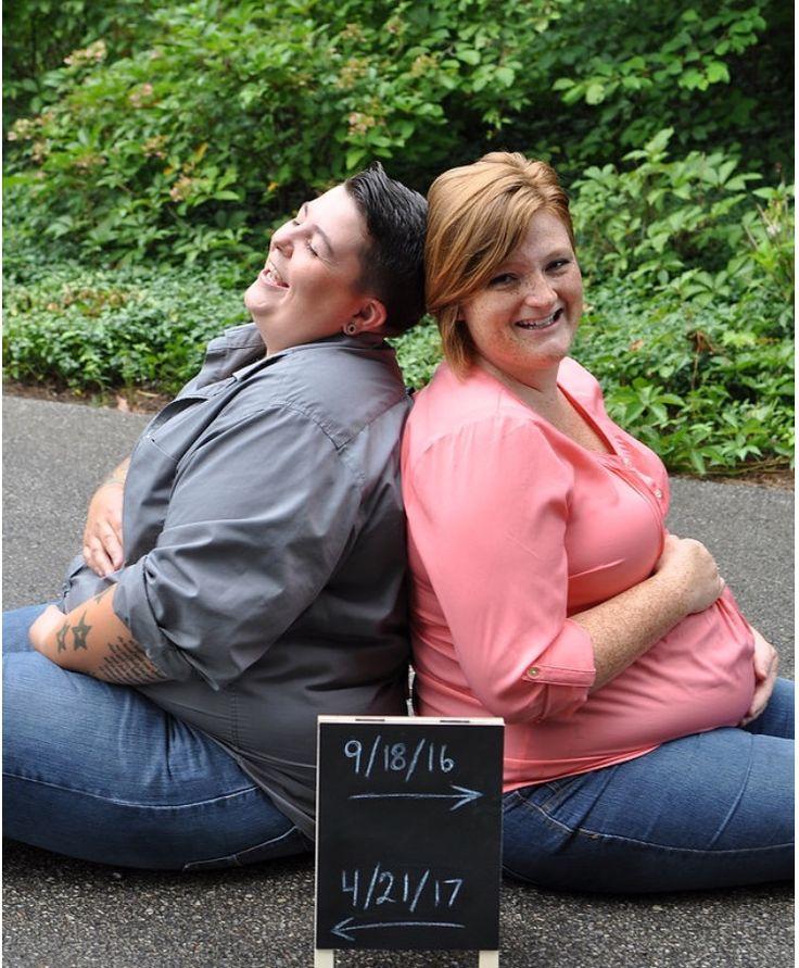 To Moms Dobbelt Graviditet Fondsbørsmeddelelse Lesbisk Moms-1668