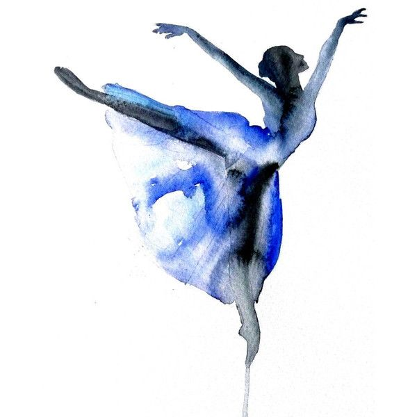 Ballet dance Ballerina ART PRINT 12X16 original watercolor painting illustration home wall decor modern contemporary reproduction poster (43 NZD) found on Polyvore