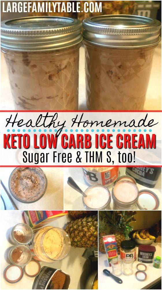 Helado de keto casero saludable en un frasco   Low Carb, Trim Healthy Mama S, también   –    Large Family Table Blog   