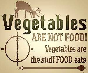 Vegetables are not food! Vegetables are the stuff food eats.