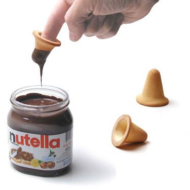 Genius! These Special Cookies Let You Dunk Your Finger Straight Into the Nutella Jar  - Delish.com