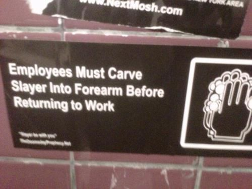 Employees Must Carve Slayer Into Forearm Before Returning ...