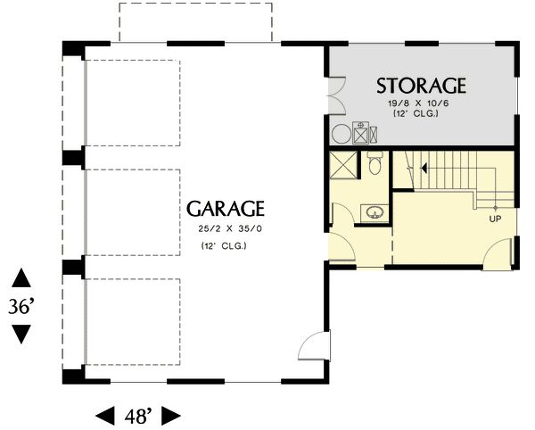17 best images about house garage plans on pinterest 3 Home plans with detached guest house