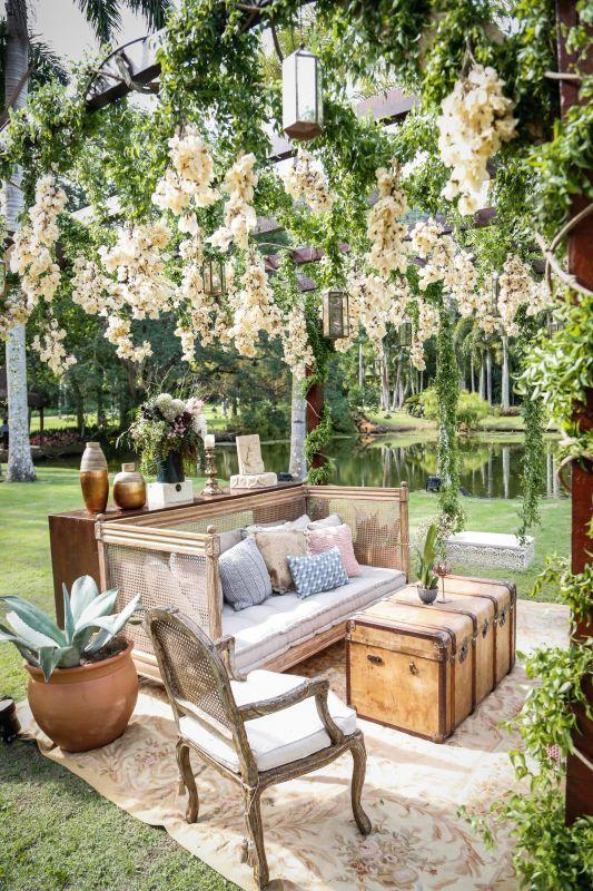 Outdoor Rooms, Outdoor Gardens, Outdoor Furniture Sets, Home Interior, Interior Architecture, Cafe Design, House Design, Outdoor Wedding Decorations, Outdoor Decor
