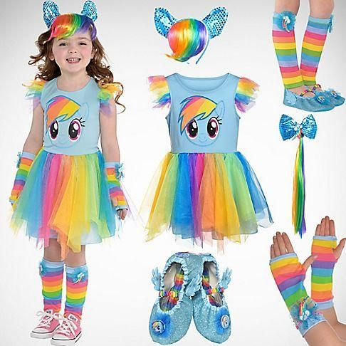 Your little girl can discover the magic of friendship when she and her girlfriends put together their own My Little Pony costume! Check out our Mix & Match, Create Your Own Page!