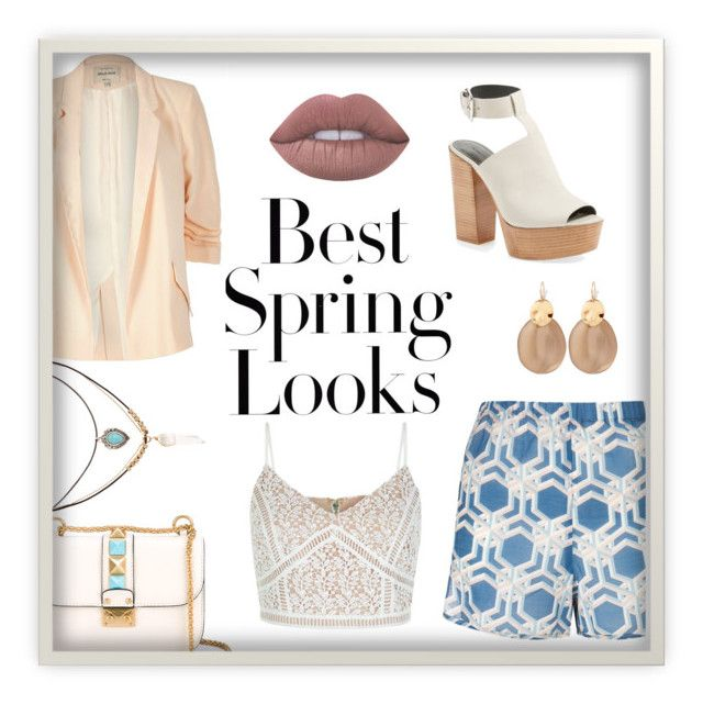 """""""Spring Jacket"""" by craneberries on Polyvore featuring H&M, Valentino, Laura Manara, River Island, Lime Crime, Accessorize, Rebecca Minkoff and Alexis Bittar"""