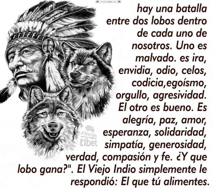 Hay una batalla entre dos lobos dentro de cada ......................