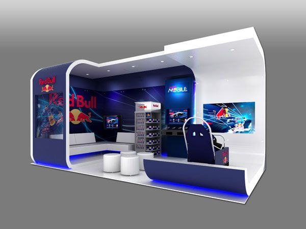Red Bull Custom exhibit Display design 25 Innovative 3D Exhibition Designs, Display Stands & Booth Collection