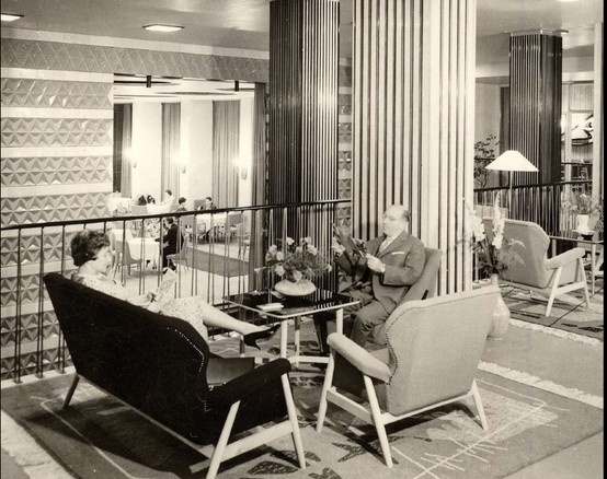 Pure retro. Our Executive Lounge in 1961