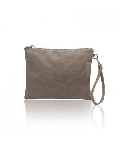 The Maia Taupe is Nella Bella's carry-all pouch that is perfect for less-is-more wardrobes and events. Large zippered top, lined interior with zippered inside pocket, this little pouch also comes with a removable wristlet.