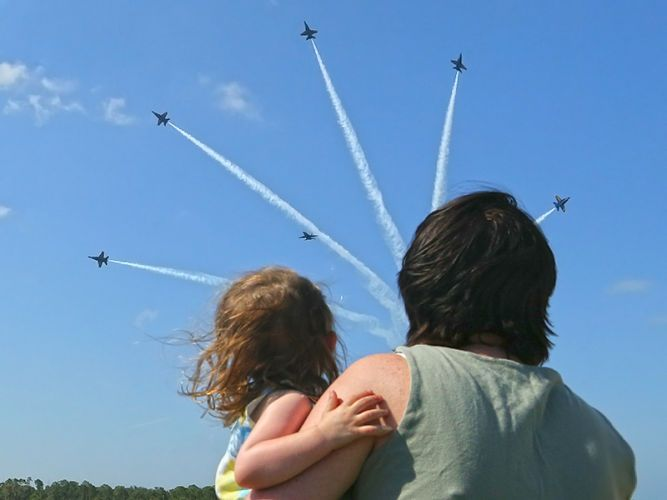 Blue Angels write love letter in skies over Vero Beach
