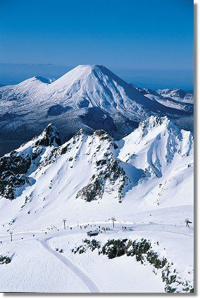 The spectacular skifields of the Central North Island, New Zealand