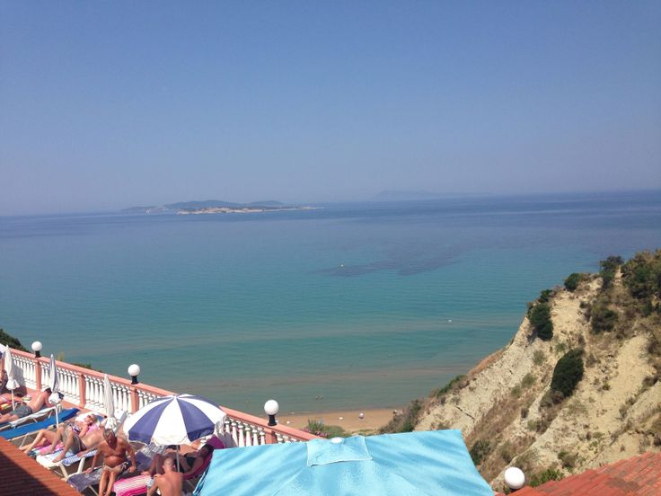 View from the top of Agios Stefanos Corfu