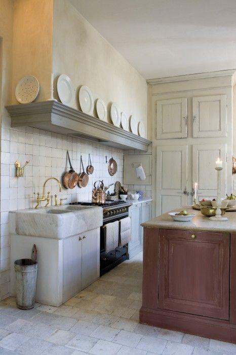 landelijke keuken - koperen kanen - Taps & Baths