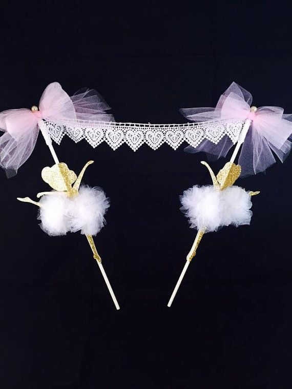 Ballerina Cake Bunting Party - Ballerina Cake Topper - Ballerina Party - Ballerina Decorations - Ballerina Theme - Dance Theme - Customized