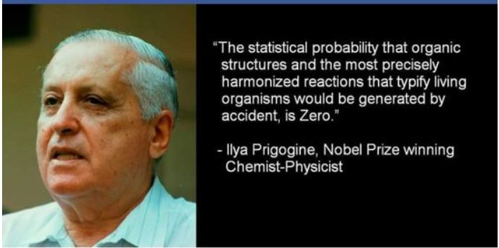 zero% chance of organic life coming to be from nothing. its not observable in any experiment. never been proven. #evolution