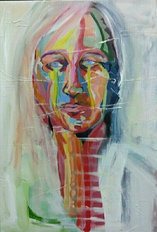 Portret, acryl op doek 50x60