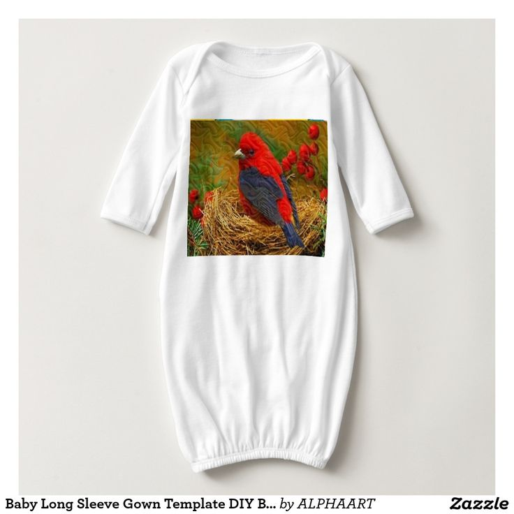 Baby Long Sleeve Gown Template DIY Bird Robbin Shirts