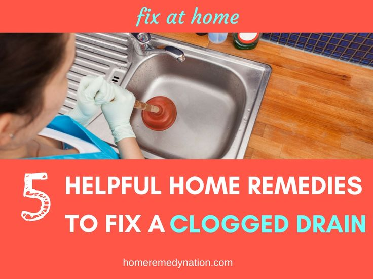 Free How To Fix A Clogged Drain At Home Tested Home Remedies To Clear A  Clogged With Clogged Kitchen Sink Home Remedy