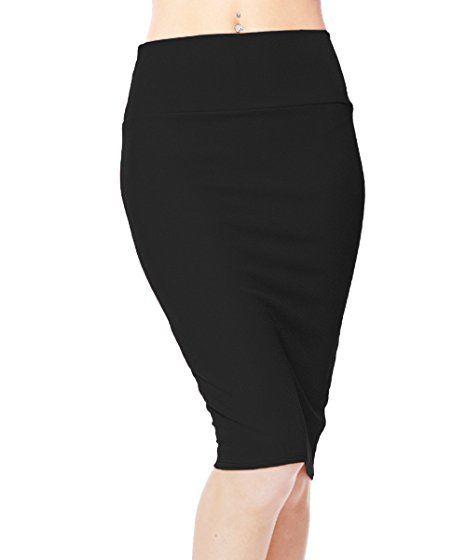 b35d1511db1 Urban CoCo Women s High Waist Stretch Bodycon Pencil Skirt  Amazon.com