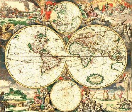 138 best map images on pinterest maps world maps and antique maps old world map 1689 antique travel artwork round wallclocks by thevintagevamp gumiabroncs Choice Image