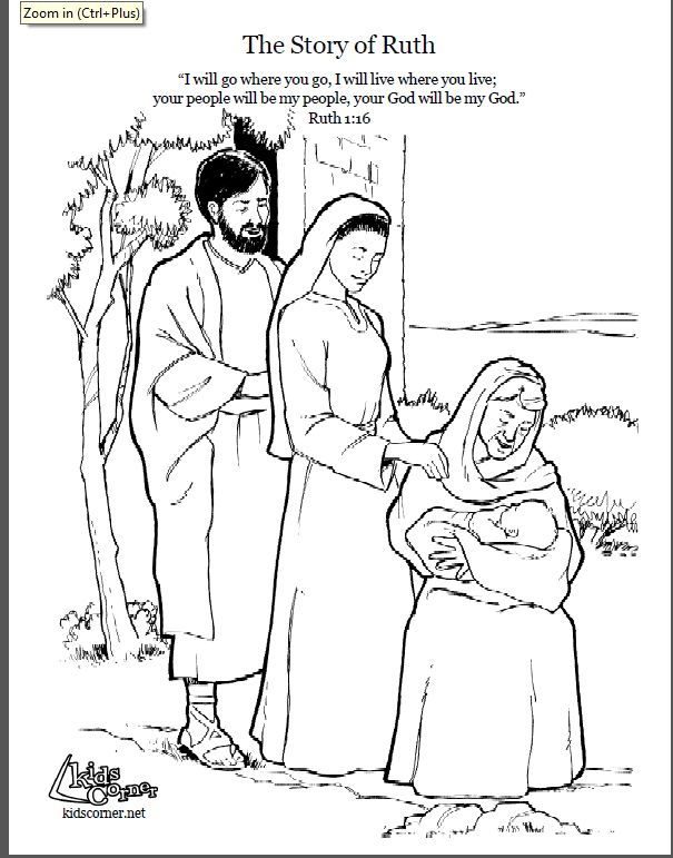 85 Coloring Pages For Ruth And Boaz