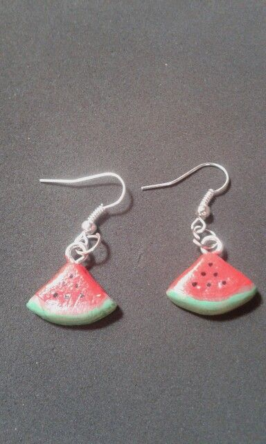 Watermelon Earring - Cold porcelain clay