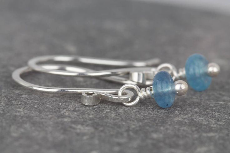 Small dangle earrings with blue beads ~ blue quartz dangle ~ ladies earrings ~ mini stone earrings ~ earrings for women ~ sterling silver by AmySquaredJewellery on Etsy https://www.etsy.com/uk/listing/523489043/small-dangle-earrings-with-blue-beads